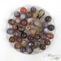 Agate du botswana en perles rondes 8mm - lot de 10