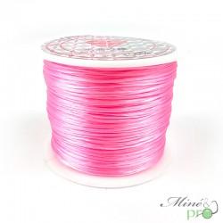 Bobine fil élastique multibrins rose 0.8mm