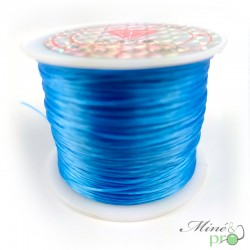 Bobine fil élastique multibrins bleu 0.8mm