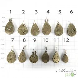 Pyrite - pendentifs - grossiste en bijoux en pierres naturelles