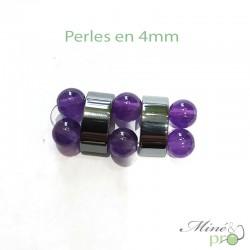 """Hématite en perles """"separateur 2 trous"""" 9mm - lot"""
