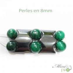 """Hématite en perles """"separateur 2 trous"""" 18mm - lot"""
