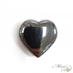 Pendentif coeur en Hématite 2,5cm - grossiste mineraux bouches du rhone