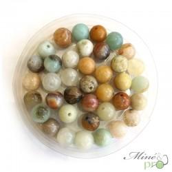 Amazonite mixte en perles rondes 6mm - lot de 10