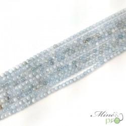 Aigue marine naturelle en perles rondes 4mm - fil complet