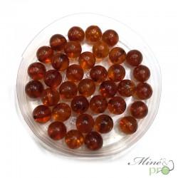 Ambre cognac naturel en perles rondes 6mm - lot de 10